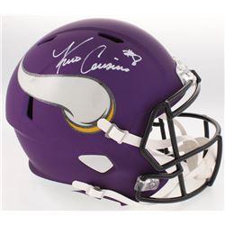 Kirk Cousins Signed Vikings Custom Matte Purple Full-Size Speed Helmet (Beckett Hologram)