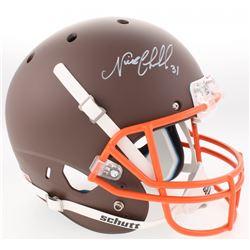 Nick Chubb Signed Browns Custom Matte Brown Full-Size Helmet (Radtke COA)