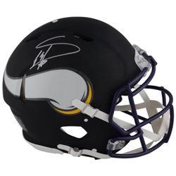 Stefon Diggs Signed Vikings Custom Matte Black Full-Size Authentic On-Field Speed Helmet (Fanatics H
