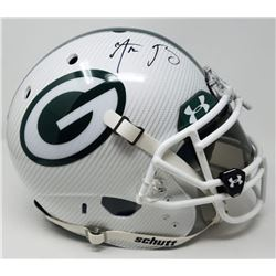 Aaron Rodgers Signed Packers LE Custom Hydro Dipped White Full-Size Authentic On-Field Helmet (Stein
