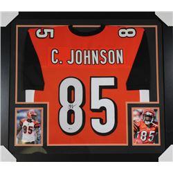 Chad Johnson Signed Bengals 31x35 Custom Framed Jersey (Beckett COA)