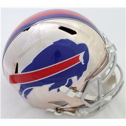 Josh Allen Signed Bills Full-Size Chrome Speed Helmet (JSA COA)