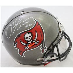 Mike Alstott Signed Buccaneers Full-Size Authentic On-Field Helmet (Beckett COA)