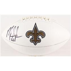 Mark Ingram Signed Saints Logo Football (Radtke COA  Ingram Hologram)
