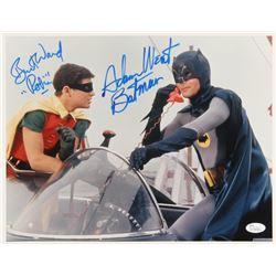 "Adam West  Burt Ward Signed ""Batman"" 11x14 Photo Inscribed ""Batman""  ""Robin"" (JSA COA)"