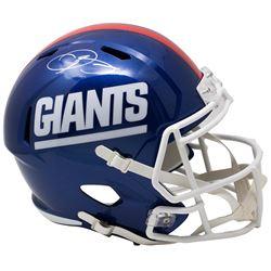 Odell Beckham Jr. Signed New York Giants Riddell Color Rush Full-Size Speed Helmet (JSA COA)