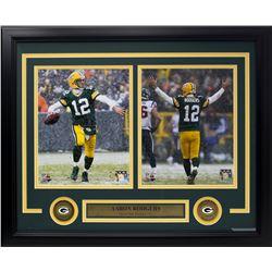 Aaron Rodgers Green Bay Packers 15x20 Custom Framed Photo Display