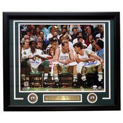 Larry Bird, Kevin McHale  Robert Parish Signed Boston Celtics 22x27 Custom Framed Photo Display (JSA