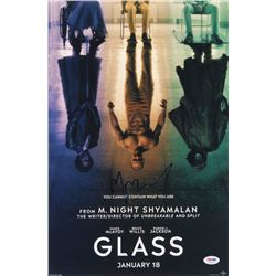 "M. Night Shyamalan Signed ""Glass"" 12x18 Movie Poster (PSA COA)"