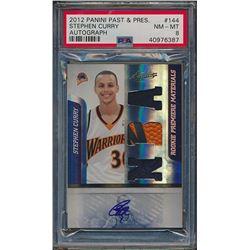 2009-10 Absolute Memorabilia #144 Stephen Curry JSY AU / 499 RC (PSA 8)