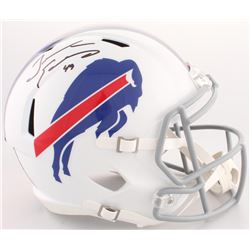 Tremaine Edmunds Signed Bills Full-Size Speed Helmet (JSA COA)
