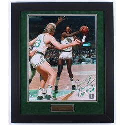 "Cedric Maxwell Signed Celtics ""1981 Finals MVP"" 23.5x27.5 Custom Framed Photo Display Inscribed ""198"