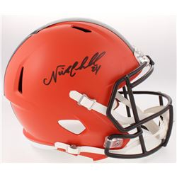 Nick Chubb Signed Browns Full-Size Speed Helmet (JSA COA)
