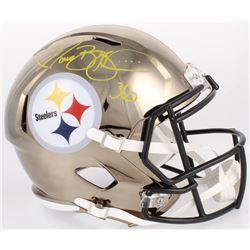 Jerome Bettis Signed Steelers Full-Size Chrome Speed Helmet (Beckett COA)