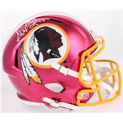 Alex Smith Signed Redskins Full-Size Chrome Speed Helmet (Beckett COA)
