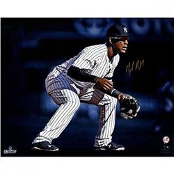 """Miguel Andujar Signed Yankees """"Fielding"""" 16x20 Photo (Steiner Hologram)"""