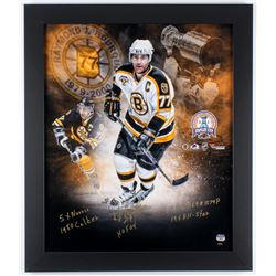 Ray Bourque Signed LE Bruins 2001 Stanley Cup Champions 23.5x27.5 Custom Framed Photo Display with (