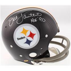 "Jack Lambert Signed Steelers Full-Size Throwback Suspension Helmet Inscribed ""HOF '90"" (JSA COA)"