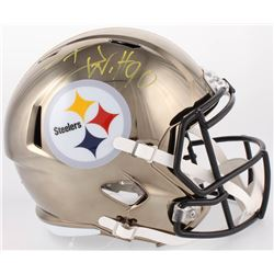 T. J. Watt Signed Steelers Full-Size Chrome Speed Helmet (JSA COA  Watt Hologram)