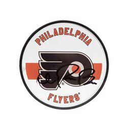 Ivan Provorov Signed Flyers Logo Acrylic Hockey Puck (UDA COA)