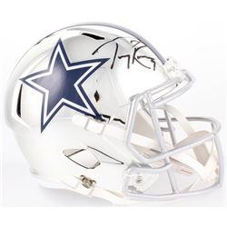 Tony Romo Signed Cowboys Full-Size Chrome Speed Helmet (Beckett COA)