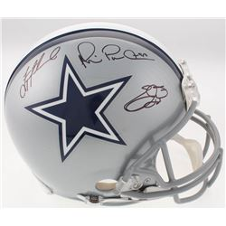 """Troy Aikman, Emmitt Smith  Michael """"Playmaker"""" Irvin Signed Cowboys Full-Size Authentic On-Field Hel"""