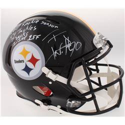 "T.J. Watt Signed Steelers Full-Size Authentic On-Field Speed Helmet Inscribed ""2017 Rookie Season"","
