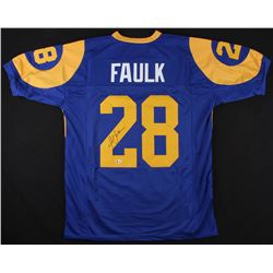 Marshall Faulk Signed St. Louis Rams Jersey (Beckett COA)