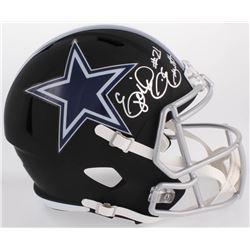 Ezekiel Elliott Signed Cowboys Full-Size Custom Matte Black Speed Helmet (Beckett COA)