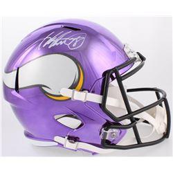 Adrian Peterson Signed Vikings Full-Size Chrome Speed Helmet (Beckett COA)