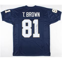 "Tim Brown Signed Notre Dame Fighting Irish Jersey Inscribed ""Heisman 87"" (JSA COA)"