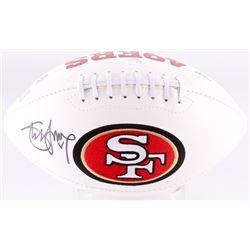 Steve Young Signed 49ers Logo Football (JSA COA  Young Hologram)