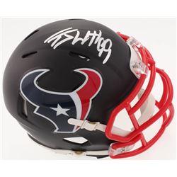 J.J. Watt Signed Texans Custom Matte Black Speed Mini Helmet (JSA COA  Watt Hologram)