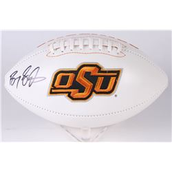 Barry Sanders Signed Oklahoma State Cowboys Logo Football (JSA COA  Schwartz COA)