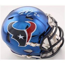 Lamar Miller Signed Texans Chrome Speed Mini-Helmet (JSA COA)