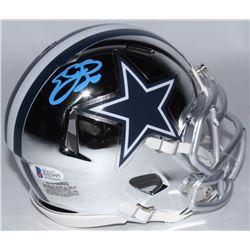 Emmitt Smith Signed Cowboys Chrome Speed Mini-Helmet (Beckett COA  Prova Hologram)