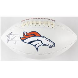 Jake Plummer Signed Denver Broncos Logo Football (Beckett COA)