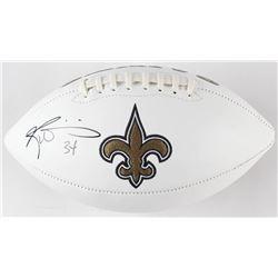 Ricky Williams Signed New Orleans Saints Logo Football (JSA COA)