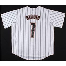 """Craig Biggio Signed Houston Astros Jersey Inscribed """"HOF 15"""" (TriStar Hologram)"""