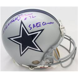 "Ed ""Too Tall"" Jones Signed Cowboys Full-Size Authentic On-Field Helmet Inscribed ""SB XII Champs"" (PS"