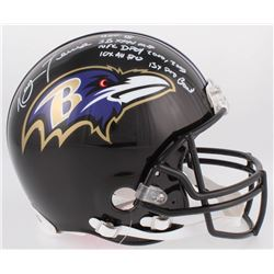 Ray Lewis Signed Ravens Full-Size Authentic On-Field Helmet with Multiple Inscriptions (Beckett COA)