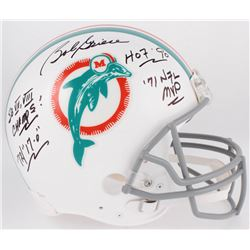 Bob Griese Signed Dolphins Full-Size Authentic On-Field Helmet with Multiple Inscriptions (JSA COA)