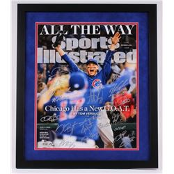 2016 Chicago Cubs World Series 20x24 Custom Framed Limited Edition Photo Display Team-Signed by (20)
