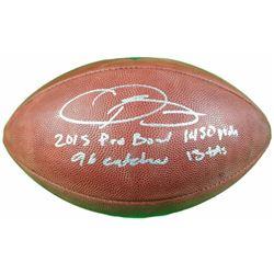 """Odell Beckham Jr. Signed LE """"The Duke"""" Official NFL Game Ball Inscribed """"2015 Pro Bowl 96 Rec 1450 Y"""