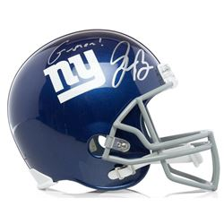 "Saquon Barkley Signed Giants Full-Size Helmet Inscribed ""G-Men"" (Panini COA)"