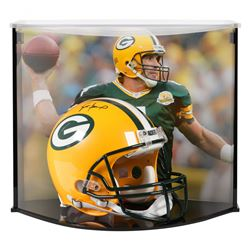 Brett Favre Signed Packers Full-Size Authentic On-Field Helmet With Custom Acrylic Curve Display Cas