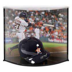Jose Altuve Signed Astros Full-Size Batting Helmet With Custom Acrylic Curve Display Case (Fanatics