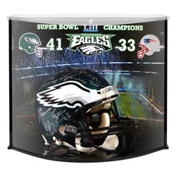LE Eagles Full-Size Authentic On-Field Helmet Team-Signed By (20) With Nick Foles, Carson Wentz, Zac