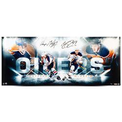"Wayne Gretzky  Connor McDavid Signed Oilers ""Bright Lights"" 15x36 Limited Edition Photo (UDA COA)"