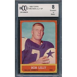 1963 Topps #82 Bob Lilly SP RC (BCCG 8)